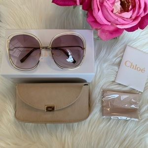Chloe Carlina 62mm Square Sunglasses